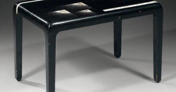 jean dunand 1877 1942 table basse plateau rectangulaire en bois et laq furniture s c xx. Black Bedroom Furniture Sets. Home Design Ideas