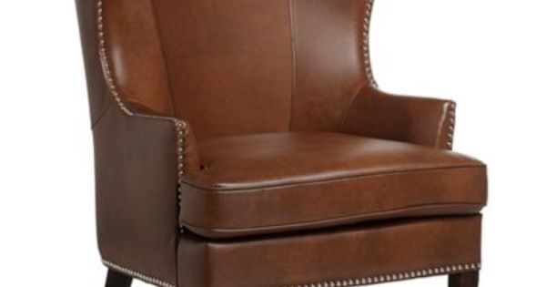 On queen anne bedroom furniture find the best prices on queen anne - Royalton Cognac Wingback Chair Bedroom Pinterest