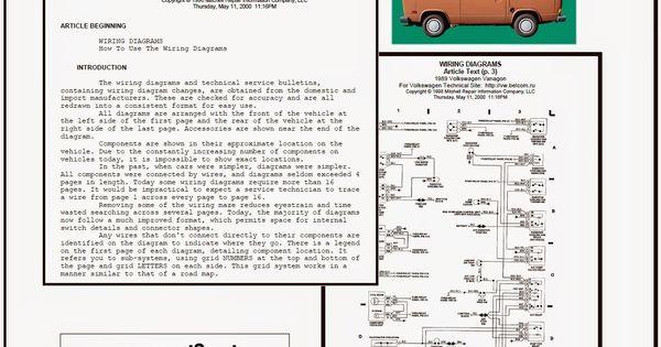 Vwt3 Net  Vw T3 T25 System Wiring Diagrams 1989