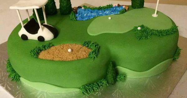 photo wedding cake toppers golf course cake by tina at get cake golf carts 6499