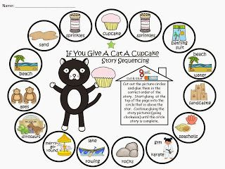 Freebie If You Give A Cat A Cupcake Free Story Sequencing