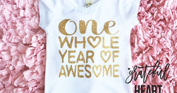 First Birthday Outfit Girl First Birthday Shirt PERSONALIZED One Year Old Shirt Gold Glitter Shirt Golden Birthday 091