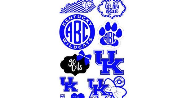 Blue Or Pink Uk University Of Kentucky Logo Monogram
