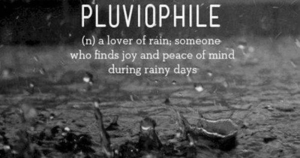 Blessed Rainy Day Quotes: Pluviophile Rainy Days Quote Definition