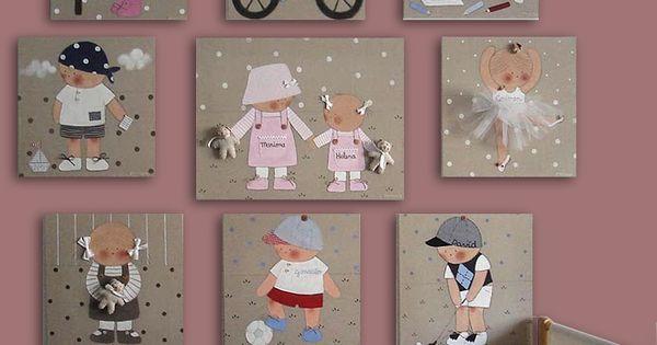 Composici n de varios cuadros infantiles cuadros - Composicion de cuadros ...