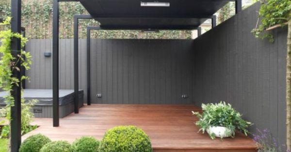 Moderne tuin twee onder n kap overkapping tuin pinterest tuinen schuilplaatsen en decks - Moderne landschapsarchitectuur ...