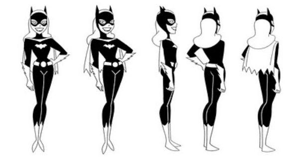 cartoon concept design  batman the animated series model