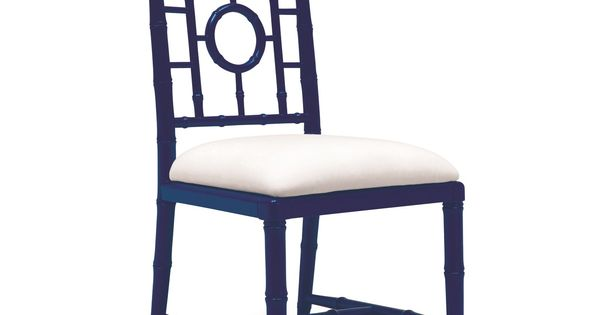 Chloe Side Chair Navy Blue Bungalow 5
