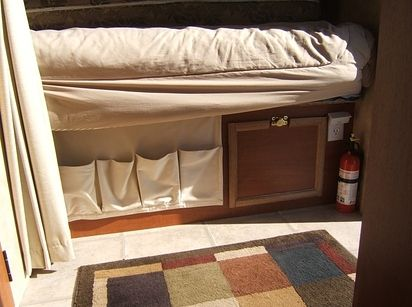 44 Cheap And Easy Ways To Organize Your Rv Camper Camper Storage Rv Storage Solutions Rv Campers