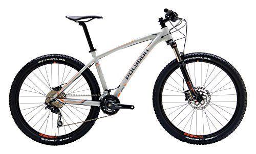Polygon Bikes Siskiu 6 Hardtail Mountain Bicycle Grey Orange