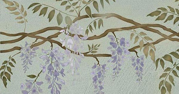 Morning Glory Vine Stencils : Schabloner homemade pinterest stencil