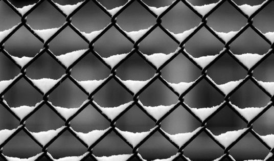 snow fence. art