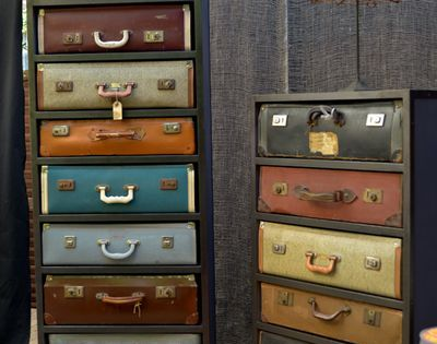 If you really love your vintage suitcases have custom shelves built to