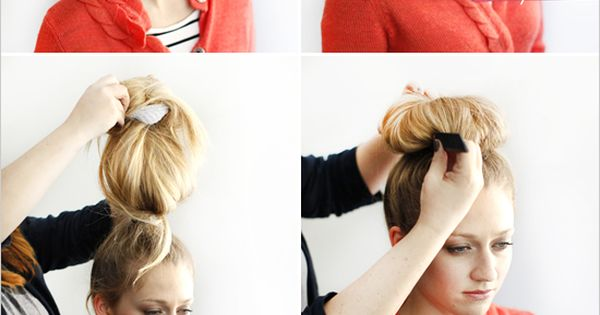 diy sock bun! Now I just need is long hair...