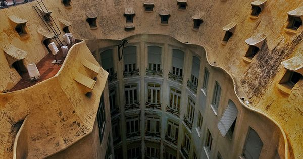 La Pedrera by Antoni Gaudi, Barcelona, Catalonia, Spain