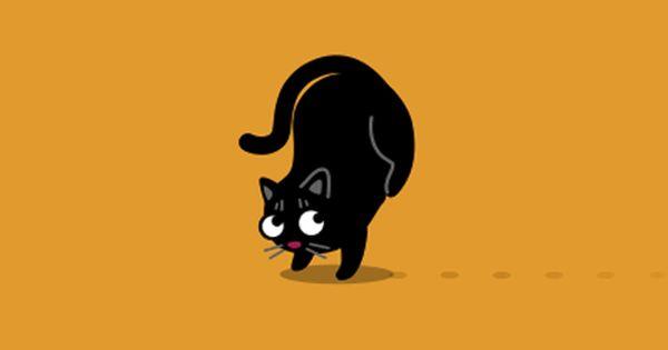 Pin De Renard Lunaire Em Animation Arte Com Gatos Gif Bonito Ilustracoes De Gato
