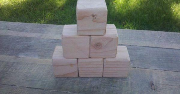 26 Unfinished Wooden Blocks