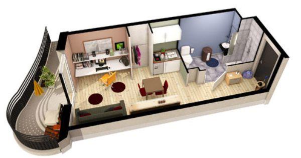 Exemple D Amenagement D Un Studio Lot205 Maquette Maison