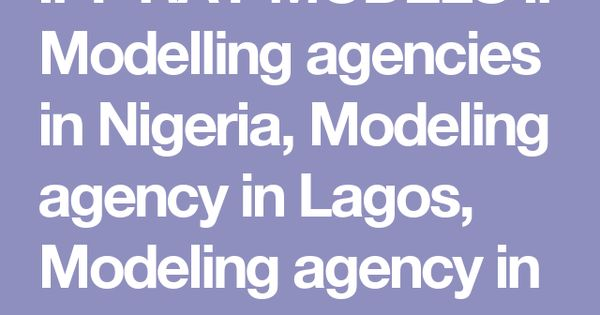 Modelling houses in nigeria