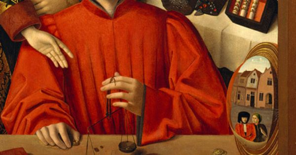 Petrus Christus, Detail, A Goldsmith in His Shop, Possibly ...