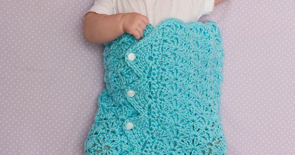 Button Up Baby Cocoon Crochet Pattern : Button-Up Baby Cocoon and Hat Crochet Pattern #crochet # ...