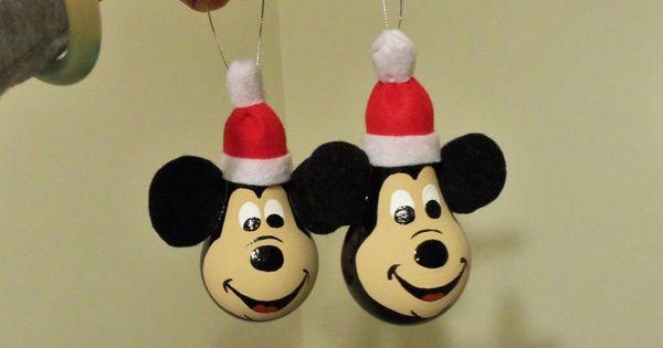Christmas Light Bulb Ornaments | Mickey Mouse