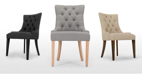 Flynn une chaise demi lune gris graphite chaises et gris for Chaise demi lune