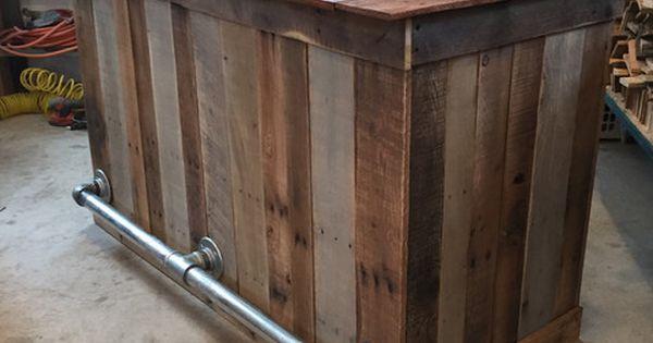 Bar isla de cocina port til islas de cocina y palets for Bar portatil madera