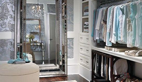 The elegant Duchamps Storage Mirror ....master walk in closet