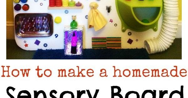 DIY Sensory Board. Homemade Sensory Board Ideas. Activities for Children. Learning and