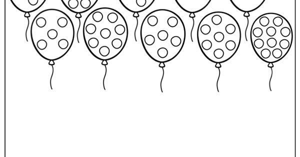 1-10 Count And Match- Count The Dots On The Balloons. Draw
