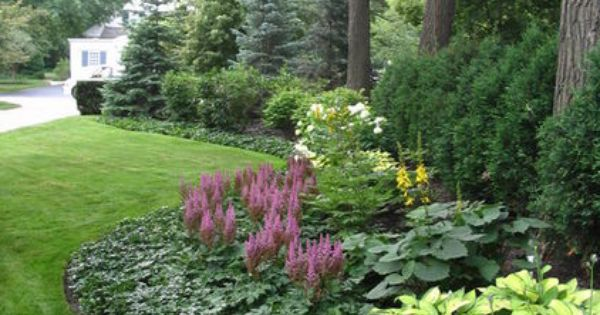 Garden Borders with mass plantings