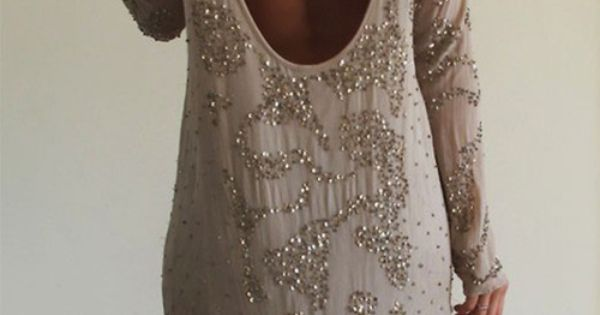 open back + sparkle! gorgeous openback