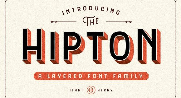 Hipton Font – Inspired from single stroke gothic letter of sign painting