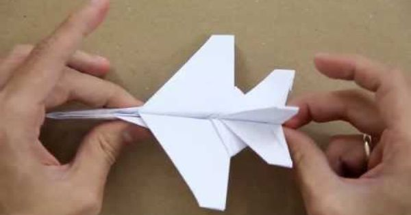 how to make an f16 jet fighter paper plane youtube
