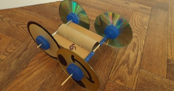 Toilet Paper Roll Rubber Band Powered Car Maker Ideas