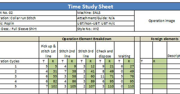 How To Do Time Study For Garment Operations Study Project