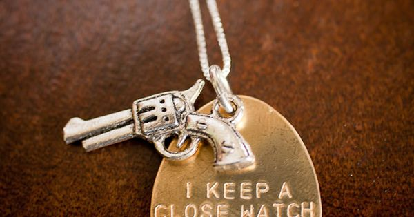 oh my Johnny Cash necklace! obsessed! gun necklace - walk the line