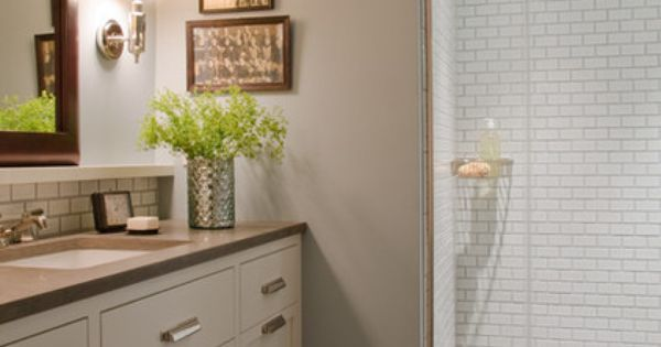 Contemporary Bathroom By Kristina Crestin Design Home Sweet Home Inside Pinterest