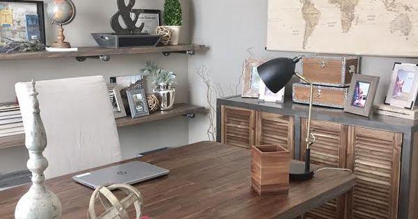 world market furniture home office decor desk side table diy pipe shelves linen chair. Black Bedroom Furniture Sets. Home Design Ideas