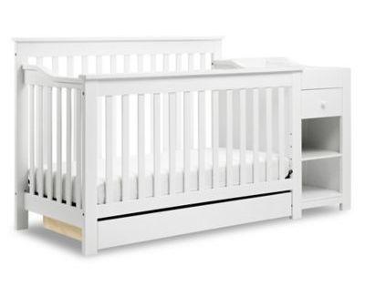 Davinci Piedmont 4 In 1 Crib And Changer Combo In White Cribs 4 In 1 Crib Convertible Crib