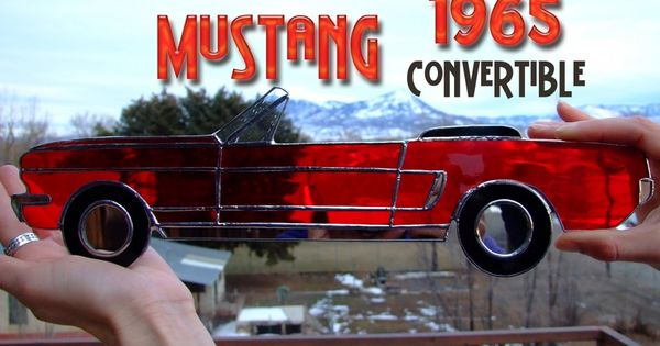 1965 Mustang Convertible Stained Glass Muscle Car Http