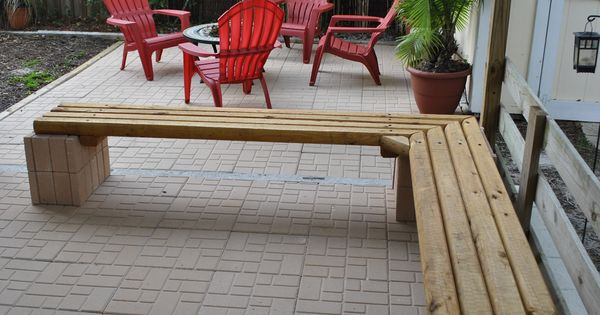Cheap outdoor landscape timber bench seating materials 9 for Landscape timber bench