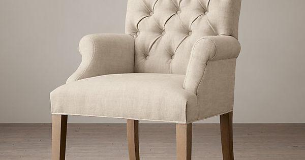 Bennett Roll Back Upholstered Arm Chair Dining Room
