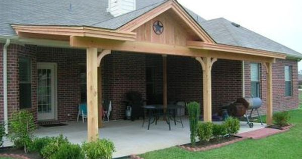 William has wanted to put a roof over our deck for a while for Covered back porch ideas