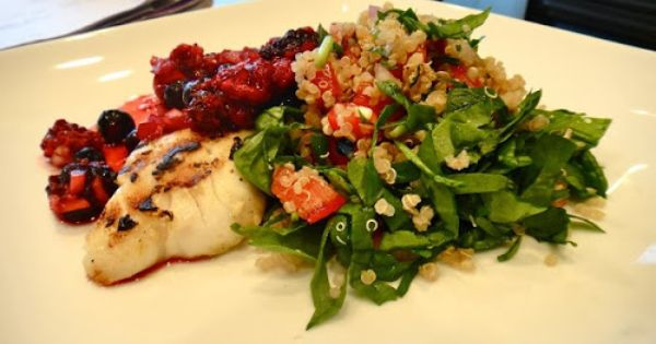 Berries, Grilled tilapia and Salsa on Pinterest