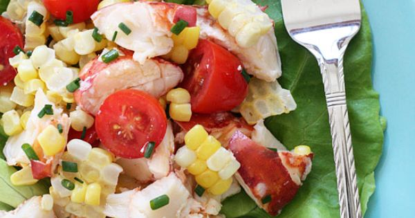 skinny taste chilled lobster salad | The perfect light summer salad, made