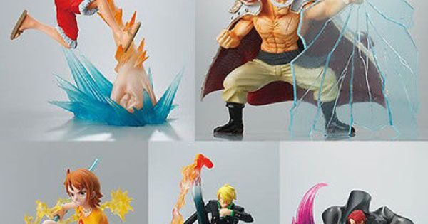 Bandai One Piece Anime Figure Cup Edge Water 3 set of 5 Luffy Robin Mr 0 Lucci