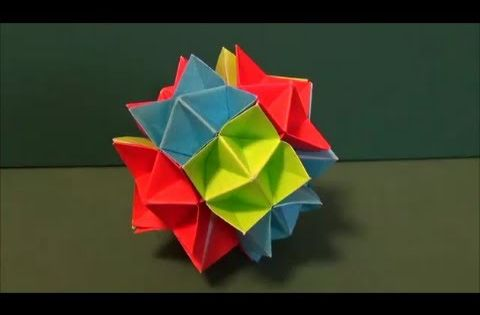 How to make an origami spike ball