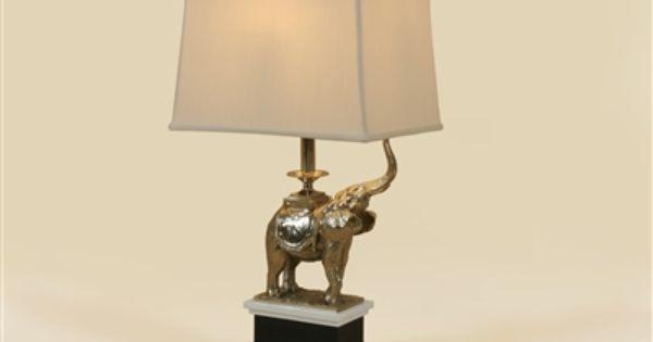 Maitland Smith Elephant Table Lamp On Stone Base Elephant Table Lamp Table Lamp Lamp